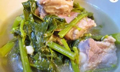 ต้มจืดผักกวางตุ้ง